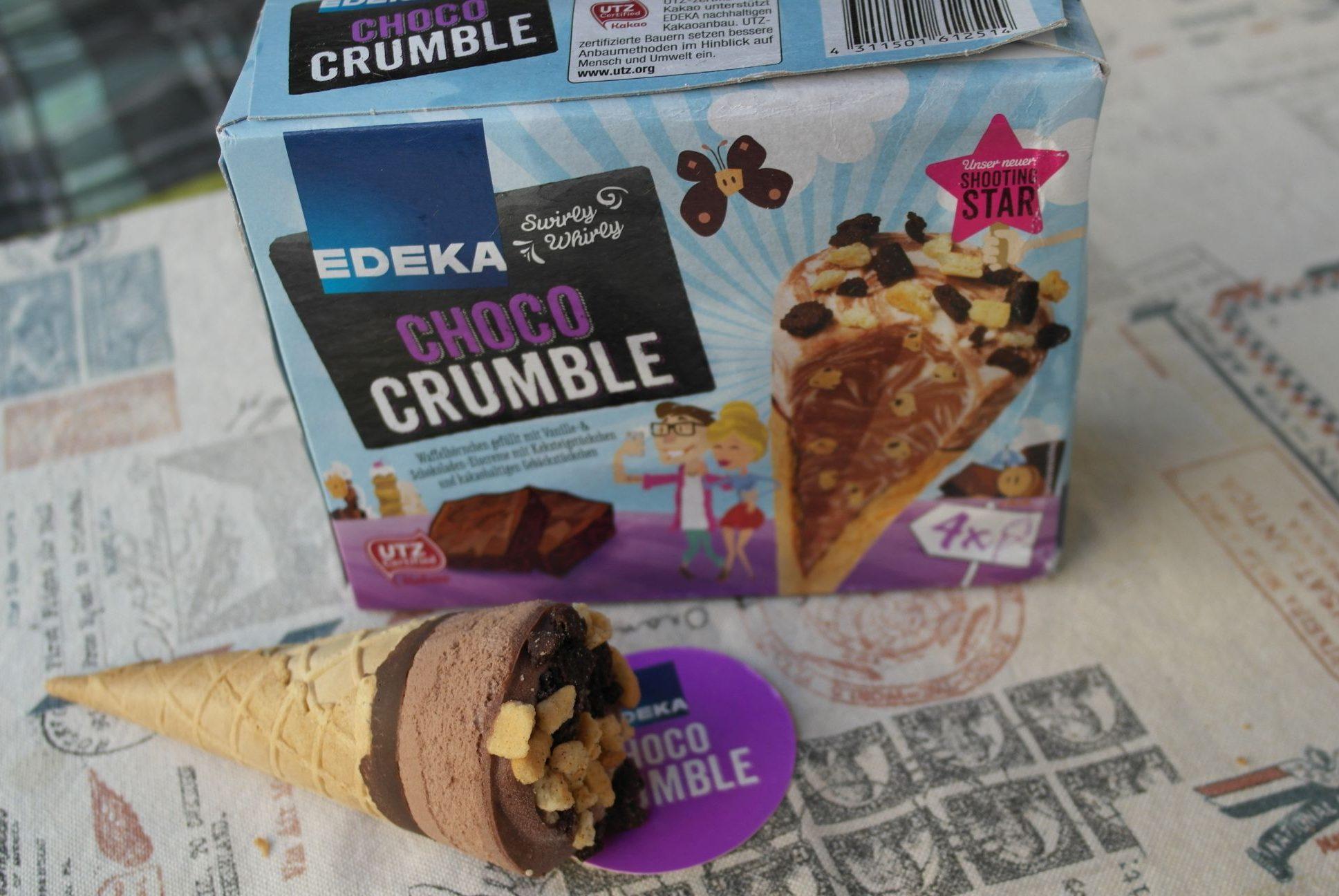 foodtest edeka choco crumble eis waffeleis keksteig. Black Bedroom Furniture Sets. Home Design Ideas